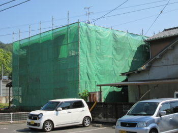 仮設足場,養生シート,外壁塗装