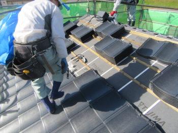 防災瓦,ケラバ水切り,勾配屋根