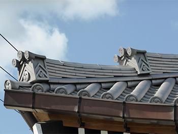 反り屋根,屋根修繕,府中光圓寺