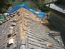 葺き土撤去,瓦下ろし,軽量屋根