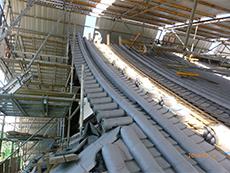 反り屋根,モルタル補修,耐水性