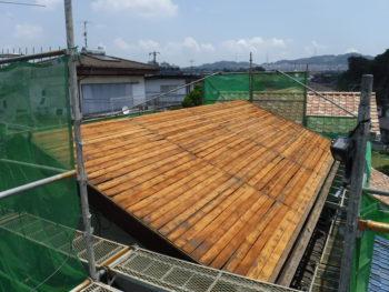 野地板,垂木交換,福山市