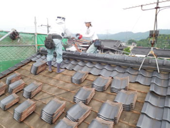 横桟木,瓦葺き替え,藤井製瓦工業