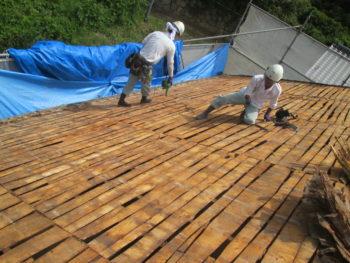 屋根工事,下地補強,藤井製瓦工業