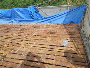 屋根板増し打ち,防水シート,藤井製瓦工業