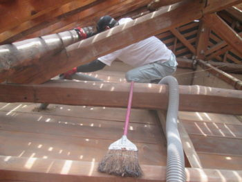 屋根裏,雨漏り調査,藤井製瓦工業