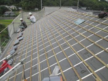 瓦葺き替え工事,福山市,雨漏り補修