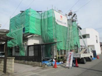 足場設置,藤井製瓦工業,屋根葺き替え