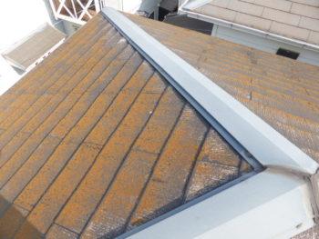 スレート屋根修理,コケとり,福山市
