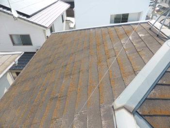 福山市,スレート屋根塗膜劣化,藤井製瓦工業