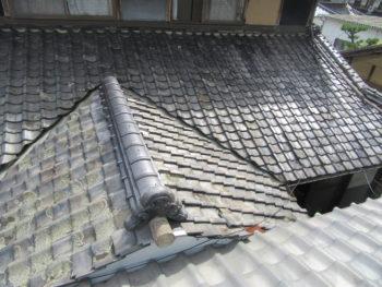 凍害瓦,瓦葺き替え工事,藤井製瓦工業