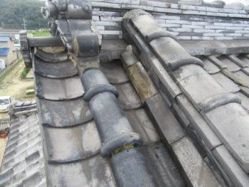 土葺き屋根,雨漏り修理,福山市
