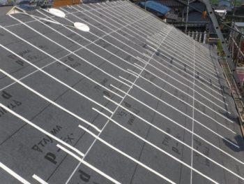 福山市,防水シート,軽量屋根