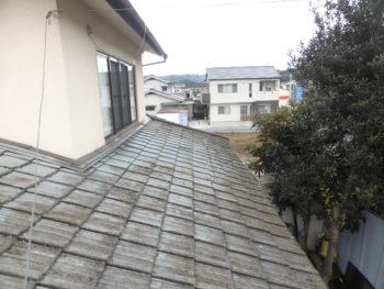 雨漏り補修,セメント瓦劣化,福山市