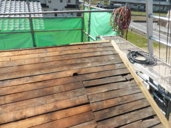 下地増し張り,屋根修理,福山市