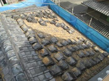 土葺き屋根,棟瓦補修,屋根点検