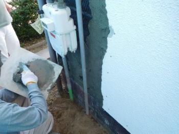 外壁補修,モルタル仕上げ,福山市