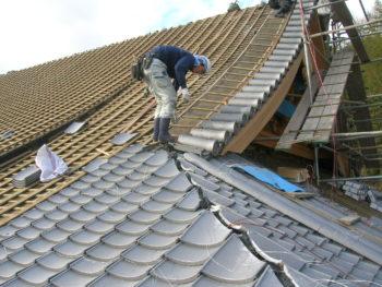 本葺き,屋根工事,福山市