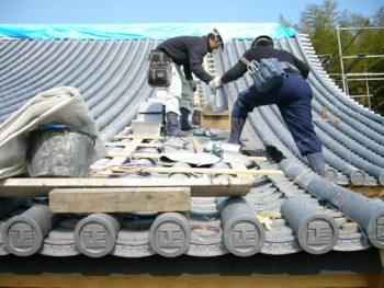 藤井製瓦工業,勾配屋根,棟施工