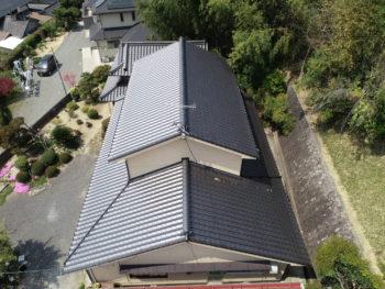 福山市,ドローン撮影,屋根修理