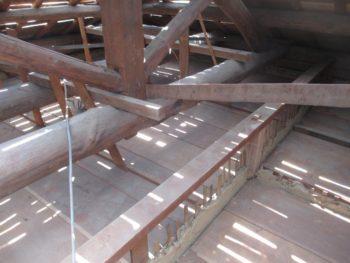 漆喰工事,瓦桟,台面糸張り