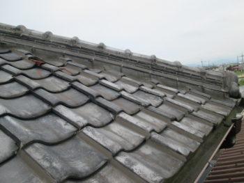 土葺き屋根,雨漏り,福山市