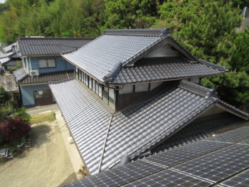 屋根軽量化,瓦葺き替え工事,福山市