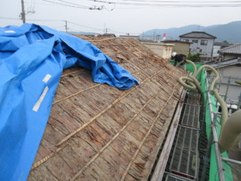 屋根下地,防水シートK,土葺き屋根