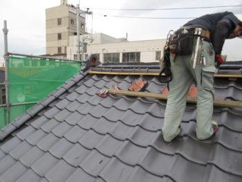 天窓,スレート屋根,錆止め