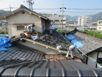 古瓦,破風板,越屋根