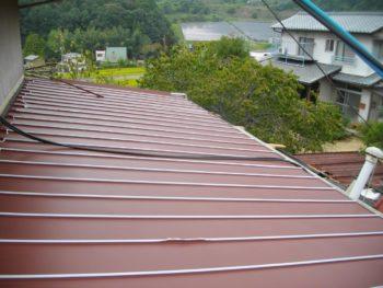 ガルバニウム鋼板,縦葺き,屋根軽量化