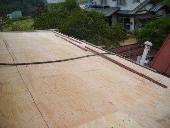 野地板,高圧洗浄,棟板金