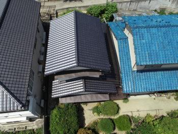 ドローン撮影,屋根点検,藤井製瓦工業