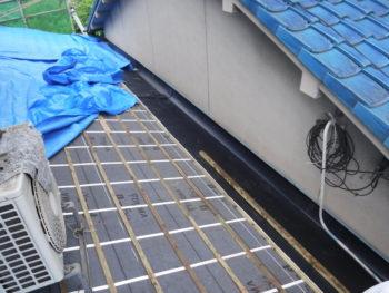 防災瓦,軽量屋根,谷板板金