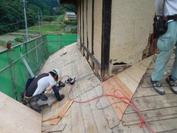 野地板交換,天井断熱,藤井製瓦工業
