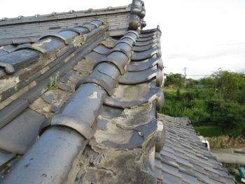 塗膜剝離,劣化瓦,土葺き屋根