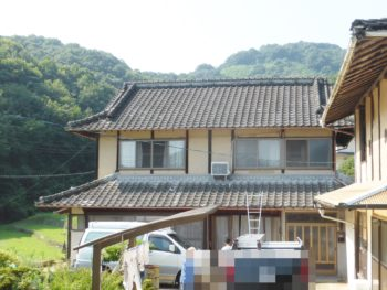 外壁補修,木造住宅,セメント瓦