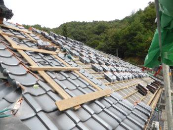 勾配屋根,藤井製瓦工業,モルタル仕上げ