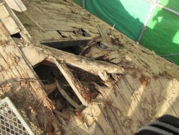 下地板腐食,垂木交換,下地補修