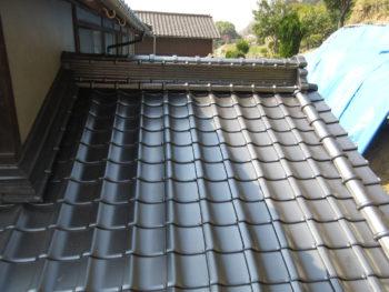 重厚感のある屋根,棟瓦,福山市