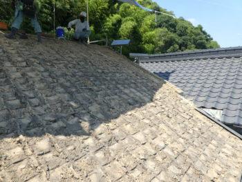 土葺き,瓦修理,屋根構造