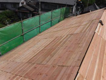 下地板増し張り補強,杉板9㎜,大工工事