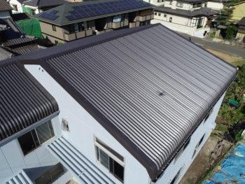 ドローン撮影,ガルバリウム鋼板屋根,外壁塗装