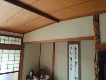 室内塗装,雨漏りの跡,じゅらく壁