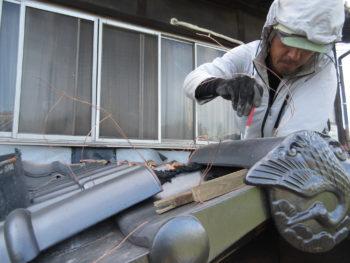 瓦の固定,ステンビス固定,銅線緊結