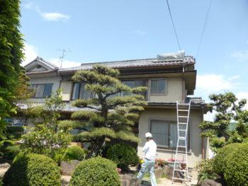 太陽温水器撤去,水漏れ,藤井製瓦工業