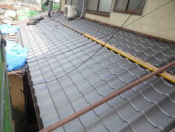 淡路産いぶし瓦,下屋根,藤井製瓦工業