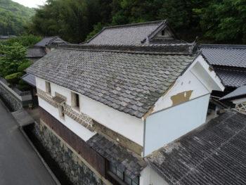 雨漏り調査,瓦の劣化,外壁落下