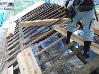 下地補修,垂木設置,野地板張替