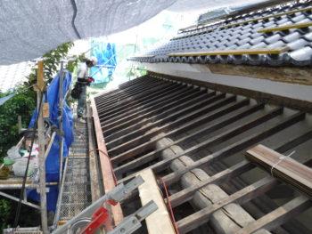 下屋根工事,下地補修,下地板
